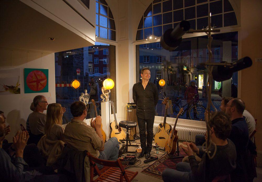 Stephan Bormann auf einem Abendkonzert